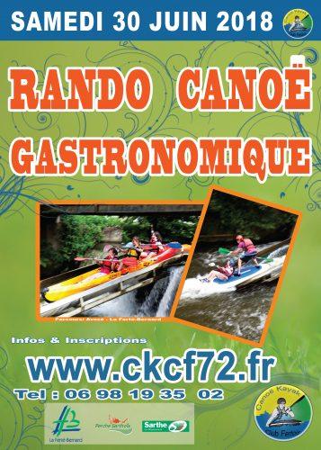 Randonné gastronomique en canoë le 30 juin