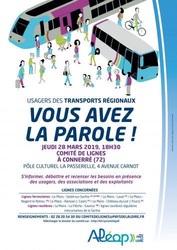 Réunion du comité de lignes «Sarthe»