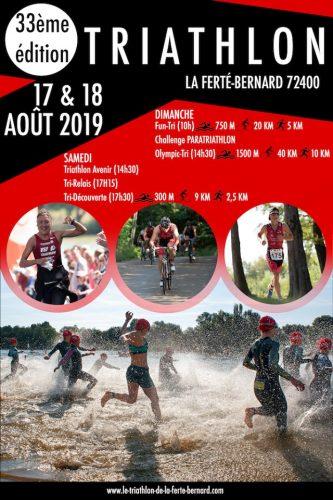 33e édition du week-end Triathlon : les 17 et 18 août 2019