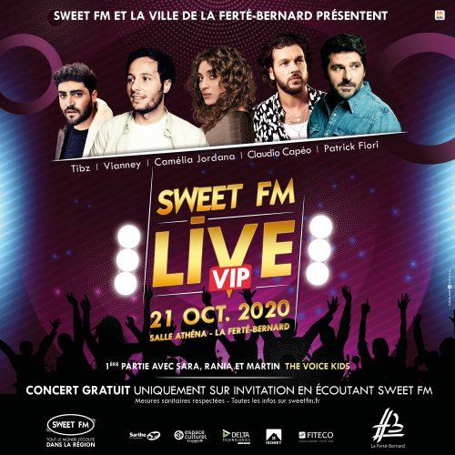 Des places à gagner pour le concert Sweet FM Live VIP