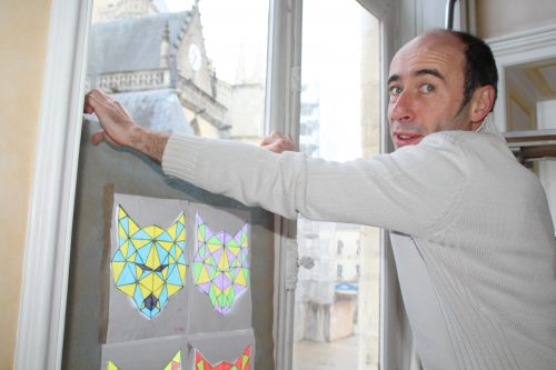 Des vitraux éphémères pour Noël